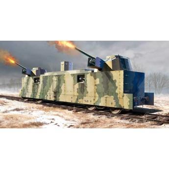 Модель ж\д вагона ПЛ-37 советский артиллерийский (1:35)