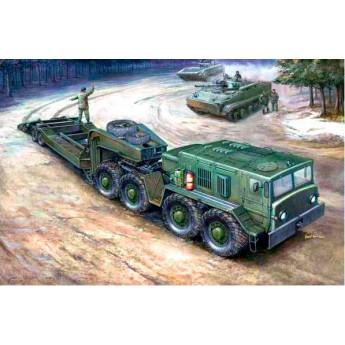Trumpeter 00212 Сборная модель автомобиля МАЗ-537 с прицепом ЧМЗ АП-52 (1:35)