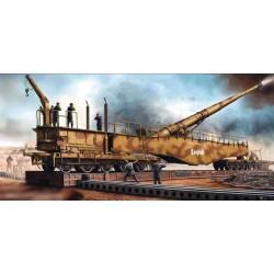 """Trumpeter 00207 Сборная модель 280 мм ж/д орудия К 5 """"Леопольд"""" (1:35)"""