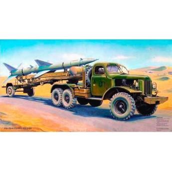 Модель автомобиля Т3М с зенитной ракетой (1:35)