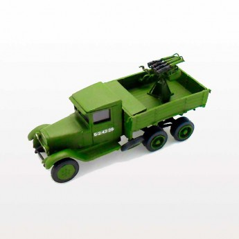 ZiS-6 Soviet Truck 4M Quadriple AA MG