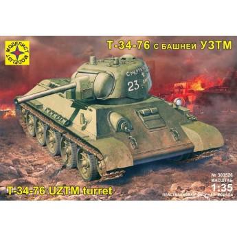 Модель танка Т-34-76 с башней УЗТМ.