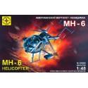 Моделист 204820 Сборная модель вертолета-невидимки МН-6 (1:48)