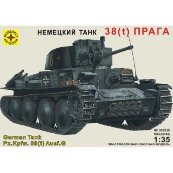 """Модель танка 38(t) """"Прага""""."""