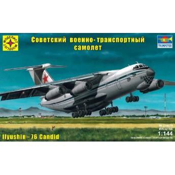 Модель военно-транспортного самолёта конструкции Ильюшина - 76 (1:144)