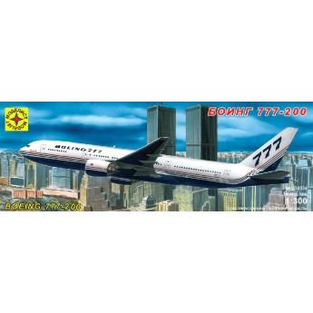 Модель самолета Боинг 777-200 (1:300)