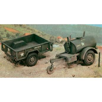 Модель автомобиля 250 GAL.S TANK TRAILER - M101 CARGO TRAILER (1:35)
