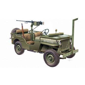 Модель автомобиля WILLYS JEEP WITH M2 MACHINE GUN (1:35)