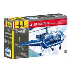 Heller 80286 Сборная модель вертолета Алуэтт III (1:72)