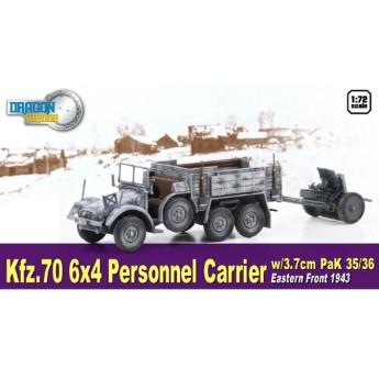 Модель автомобиля Kfz.70 6X4 PERSONNEL CARRIER w/3.7cm PaK 35/36
