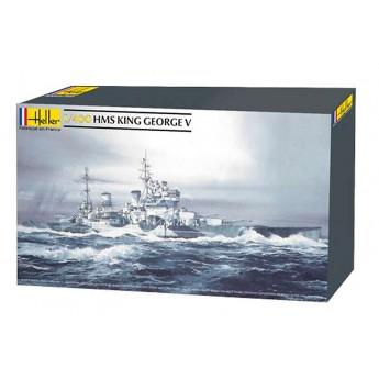 Модель корабля HMS King George V (1:400)