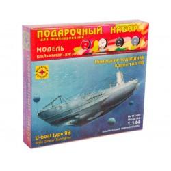 Моделист ПН114469 Сборная модель подводной лодки тип IIB. Подарочный набор (1:144)