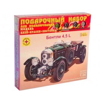 Модель автомобиля Bentley 4,5L (1:24). Подарочный набор.