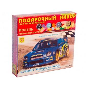 Модель автомобиля Субару Импреза WRC (1:43). Подарочный набор.