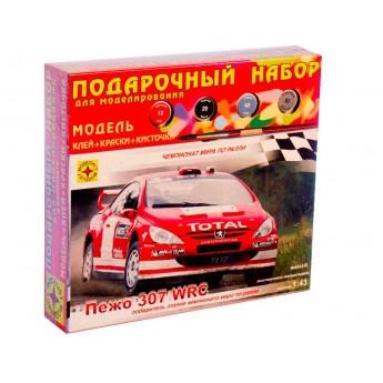 Модель автомобиля Пежо 307 WRC (1:43). Подарочный набор.