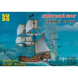 """Моделист 115003 Сборная модель корабля пиратский бриг """"Черный сокол"""" (1:150)"""