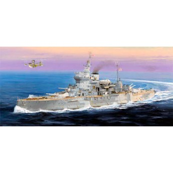 Корабль линкор HMS Warspite (1:350)