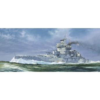 Линкор HMS Warspite, 1942 г. (1:700)