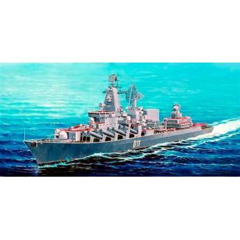 """Trumpeter 04519 Сборная модель корабля ракетный крейсер """"Варяг"""" (1:350)"""