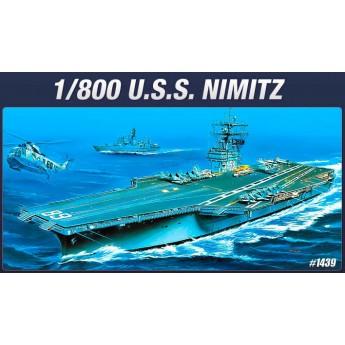 Academy 14213 Сборная модель корабля авианосец USS Nimitz (1:800)