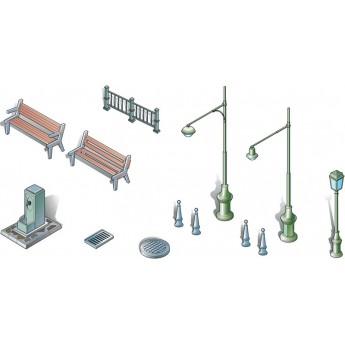 Диорама Urban accessoires (1:72)