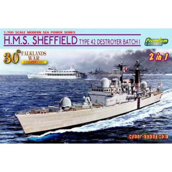 Корабль H.M.S. SHEFFIELD TYPE 42 DESTROYER BATCH 1 (FALKLANDS WAR) (1:700)