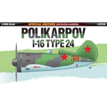 Модель самолета Polikarpov I-16 Type 24 (1:48)