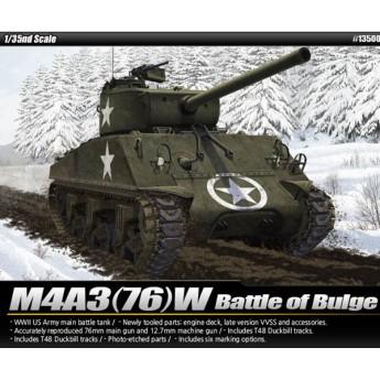 """Модель танка M4A3 (76)W """"Battle of Bulge"""" (1:35)"""