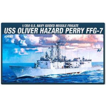 """Корабль FFG-7 Фрегат """"Оливер Пэрри"""" (1:350)"""