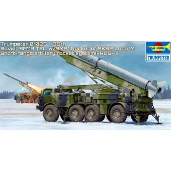 Ракетный комплекс Russian 9P113 TEL w/9M21 Rocket of 9P52 Luna-M (1:35)