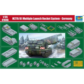Модель САУ M270/A1 Multiple Launch Rocket System - Germany (1:35)