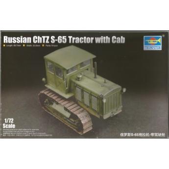 Модель тягача Russian ChTZ S-65 Tractor with Cab (1:72)