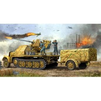 Модель 37 мм Flak 37 на Sd Kfz. 7/2 (поздняя) (1:35)