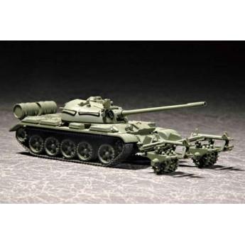Модель танка Т-55 с КМТ-5 (1:72)