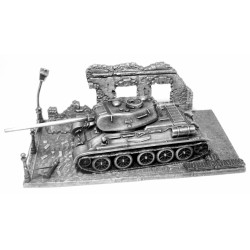 HeavyMetal.Toys Модель танка Т34-85 из металла с подставкой (1:72)