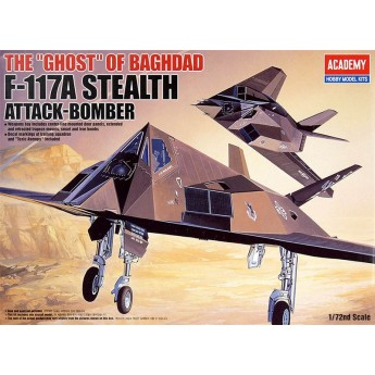 """Academy 12475 Сборная модель самолета F-117A Stealth Attack Bomber The """"Ghost"""" of Baghdad (1:72)"""