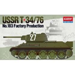 Academy 13505 Сборная модель танка USSR T-34/76 No183 Factory Production (1:35)