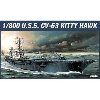 Academy 14210 Сборная модель корабля USS CVN-63 KITTY HAWK (1:800)