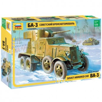 Звезда 3546 Сборная модель бронеавтомобиля БА-3 обр 1934 г (1:35)
