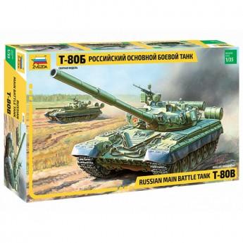 Звезда 3590 Сборная модель танка Т-80Б (1:35)