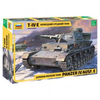 Звезда 3641 Сборная модель танка немецкий Т-IV E (1:35)