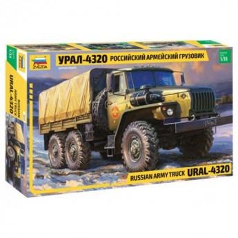 Звезда 3654 Сборная модель грузовика российской армии Урал-4320 (1:35)