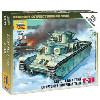 Звезда 6203 Сборная модель танка Т-35 (1:100)