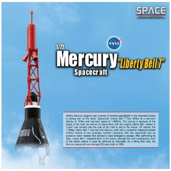 "Dragon 50393 Сборная модель космического аппарата Mercury Spacecraft ""Liberty Bell 7"" (1:72)"