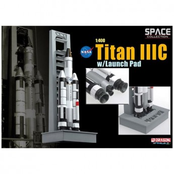 Dragon 56228 Сборная модель космического аппарата Titan IIIC w/Launch Pad (1:400)