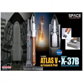 Dragon 56260 Сборная модель космического аппарата Atlas V w/Launch Pad + X-37B Orbital Test Vehicle (1:400)