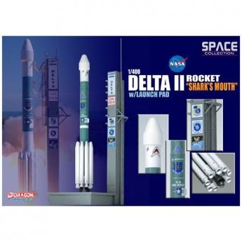"Dragon 56334 Сборная модель космического аппарата Delta II Rocket ""Shark's Mouth"" w/Launch Pad (1:400)"
