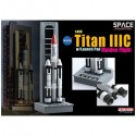 Dragon 56341 Сборная модель космического аппарата Titan IIIC w/Launch Pad Maiden Flight (1:400)
