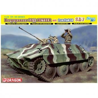 Dragon 6399 Сборная модель САУ Bergepanzer 38(t) HETZER mit 2cm FlaK 38 (1:35)
