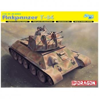 Dragon 6599 Сборная модель Зенитный танк Flakpanzer T-34r (1:35)